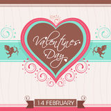 Het ontwerp van de groetkaart voor de Dagviering van Valentine Royalty-vrije Stock Afbeelding