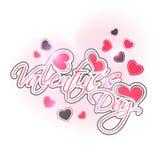 Het ontwerp van de groetkaart voor de viering van de Valentijnskaartendag Royalty-vrije Stock Afbeelding