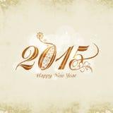 Het ontwerp van de groetkaart voor Gelukkige Nieuwjaarvieringen Royalty-vrije Stock Foto