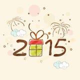 Het ontwerp van de groetkaart voor Gelukkige Nieuwjaarvieringen Royalty-vrije Stock Fotografie