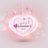 Het ontwerp van de groetkaart voor Gelukkige Valentijnskaartendag Stock Afbeeldingen
