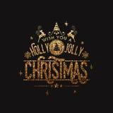 Het ontwerp van de groetkaart voor Kerstmisviering Royalty-vrije Stock Foto