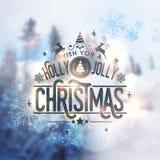Het ontwerp van de groetkaart voor Kerstmisviering Royalty-vrije Stock Afbeelding