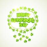 Het ontwerp van de groetkaart voor St Patrick Dagviering Stock Fotografie