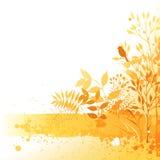 Het ontwerp van de herfst Kroon van kleurrijke bladeren Stock Fotografie