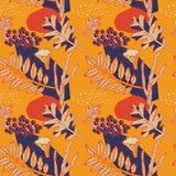 Het ontwerp van het de herfstpatroon Vector illustratie Royalty-vrije Stock Afbeelding