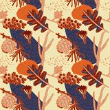 Het ontwerp van het de herfstpatroon Vector illustratie Stock Afbeeldingen
