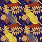 Het ontwerp van het de herfstpatroon Vector illustratie Stock Fotografie