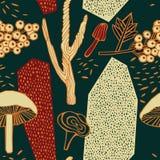Het ontwerp van het de herfstpatroon Vector illustratie Royalty-vrije Stock Afbeeldingen