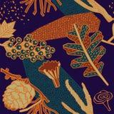 Het ontwerp van het de herfstpatroon Vector illustratie Stock Foto's