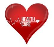 Het ontwerp van de het conceptenillustratie van het gezondheidszorghart Stock Afbeelding