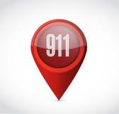 het ontwerp van de het conceptenillustratie van het 911 wijzerteken vector illustratie