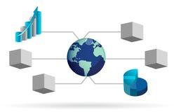 Het ontwerp van de het diagramillustratie van de doos Royalty-vrije Stock Afbeelding