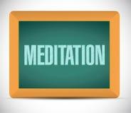het ontwerp van de het tekenillustratie van de meditatieraad Stock Foto's