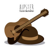 Het ontwerp van de Hipsterstijl Stock Afbeelding