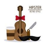 Het ontwerp van de Hipsterstijl Stock Foto's