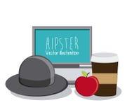 Het ontwerp van de Hipsterstijl Stock Foto