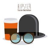 Het ontwerp van de Hipsterstijl Stock Fotografie