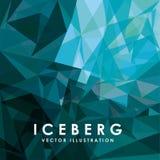 het ontwerp van de ijsberggletsjer stock illustratie