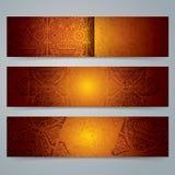 Het ontwerp van de inzamelingsbanner, Afrikaanse kunstachtergrond Royalty-vrije Stock Foto