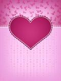 Het Ontwerp van de Kaart van de Dag van de valentijnskaart Stock Fotografie