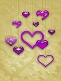 Het Ontwerp van de Kaart van de Dag van de valentijnskaart Royalty-vrije Stock Foto's