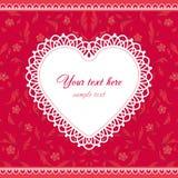 Het Ontwerp van de Kaart van de Dag van de valentijnskaart Stock Foto