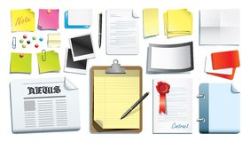 Het ontwerp van de kantoorbehoeften Royalty-vrije Stock Afbeelding