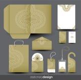 Het ontwerp van de kantoorbehoeften dat in vectorformaat wordt geplaatst Royalty-vrije Stock Foto