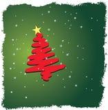 Het ontwerp van de kerstboom royalty-vrije illustratie