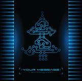 Het ontwerp van de kerstboom. De achtergrond van de technologie. Stock Afbeelding