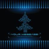 Het ontwerp van de kerstboom. De achtergrond van de technologie. Royalty-vrije Stock Afbeeldingen
