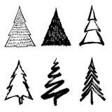 Het ontwerp van de kerstboomkrabbel stock afbeelding