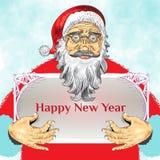 Het Ontwerp van de Kerstmisaffiche met Santa Claus Royalty-vrije Stock Afbeelding