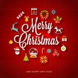 Het ontwerp van de Kerstmisgroet Royalty-vrije Stock Foto's