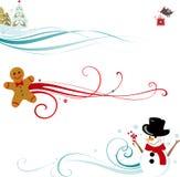 Het Ontwerp van de Kerstmisrol Royalty-vrije Stock Fotografie