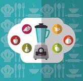 Het ontwerp van de keukenlevering Stock Foto