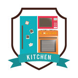 Het ontwerp van de keukenlevering Stock Afbeeldingen