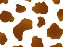 Het ontwerp van de koe in bruin Stock Foto