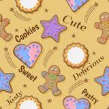 Het ontwerp van de koekjesviering Stock Foto's