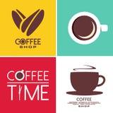 Het ontwerp van de koffiekunst stock illustratie