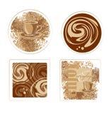 Het ontwerp van de koffieonderlegger voor glazen stock illustratie