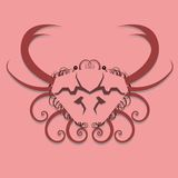 Het Ontwerp van de Krab van Swirly Royalty-vrije Stock Foto's