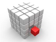 Het Ontwerp van de kubus royalty-vrije illustratie