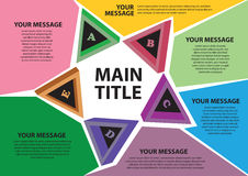 Het ontwerp van de lay-out met verschillende kleuren. Stock Afbeelding