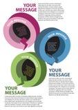 Het ontwerp van de lay-out van verschillende gekleurde kringloopcirkels Stock Foto's