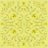 Het ontwerp van de lente met vlinders vector illustratie