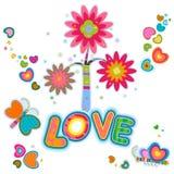 Het ontwerp van de liefde Stock Foto