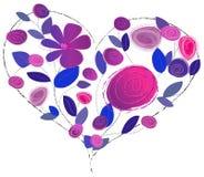 Het ontwerp van de liefde met bloem royalty-vrije illustratie