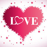 Het ontwerp van de liefdekaart, vectorillustratie eps 10 Stock Fotografie